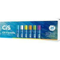 Giz De Cera Cis Oil Pastels Com 24 Unidades Cores Vibrantes