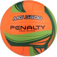 Bola De Vôlei Penalty Mg 3600 Vi - Laranja/Verde