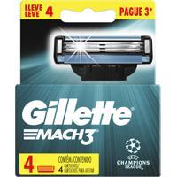 Carga Gillette Mach3 Edição Uefa Champions League Leve 4 Pague 3
