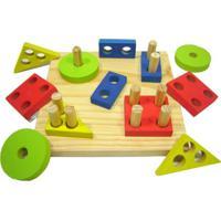 Quadrado Geométrico Kits E Gifts Prancha De Seleção Madeira Amarelo