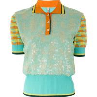Antonio Marras Camisa Polo Com Recorte De Paetês - Estampado