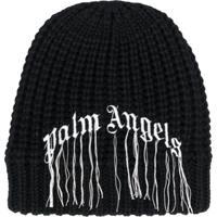 Palm Angels Gorro Com Logo - Preto