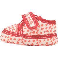 Sapato Baby Anjo Estampa Branco/Rosa