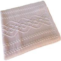 Manta Tricot Decorativa Cama Sofá 120Cm X 150Cm Cod 1026.5 Rosa Bebe