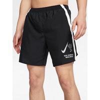Short Nike Challenger Wild Run 7In Masculino - Masculino-Preto+Branco