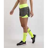 Short Feminino Esporte Ace Running Com Bermuda Interna Cinza