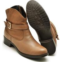 Bota Montaria Country Top Franca Shoes Feminina - Feminino-Caramelo
