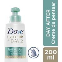 Creme Para Pentear Dove Care Nutre E Modela On Day 2 200Ml - Feminino-Incolor