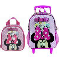 Mochila Com Rodas E Lancheira Infantil Escolar Magic Bow - Minnie Rosa - Rosa - Feminino - Dafiti