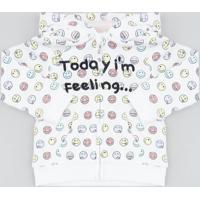 Blusão Infantil Em Moletom Estampado Ícone Com Capuz Off White
