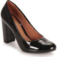 Sapato Salto Feminino Pensatto - Preto