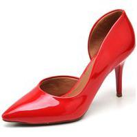 Sapato Scarpin Verniz Gisela Costa Vermelho