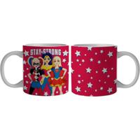 Caneca De Porcelana Urban Stay Strong Vermelha 300Ml