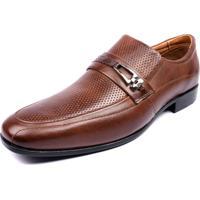 Sapato Social Moderno Shoes Grand Confortável Café