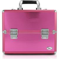 Maleta Profissional De Maquiagem Média Jacki Design Beauty Pink