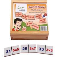 Dominó Educativo Multiplicação Jogo Com 28 Peças - Fundamental