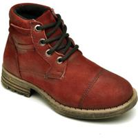 Bota Infantil D&R Shoes Cano Curto Masculina - Masculino-Bordô
