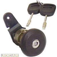 Cilindro Da Chave Da Porta - Fiesta Hatch - 1996 Até 2002 - Sedan 2001 Até 2004 - Ka 1997 Até 2007 - Courier - Com Chave - Preto - Lado Do Motorista - Cada (Unidade)