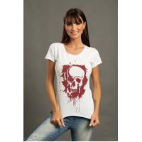 Camiseta Babylook Bossa Brasil - Skull Squashes - Branca