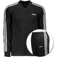 Agasalho Adidas Mts 3S Preto E Branco