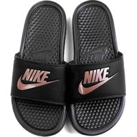 dfdd8a009d Netshoes  Chinelo Nike Benassi Jdi Slide Feminina - Feminino-Preto+Pink