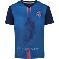 Camiseta Psg 2018 Jogadores Bomache - Infantil - Azul Escuro