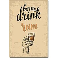Placa Decorativa - Rum - 0696Plmk