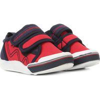 Tênis Infantil Klin Toy Dois Velcros Masculino - Masculino-Vermelho