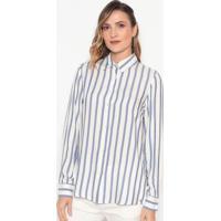 Camisa Listrada - Branca & Azuldudalina