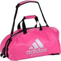 Bolsa Mochila Adidas Boxing 2In1 Pu 50L Rosa/Prata