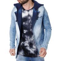 Blazer Jeans Masculino Rock&Soda Azul