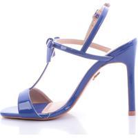 Sandália Di Valentini Ivete 496-04610 Verniz Azul