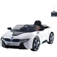 Carro Infantil Eletrico Esporte Bmw I8 6V Com Controle Remoto Bel Brink - Unissex-Branco