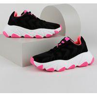 Tênis Feminino Zatz Sneaker Chunky Com Recortes Preto