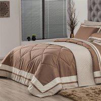 Edredom Casal Plumasul Soft Comfort 220X240Cm Microfibra Café