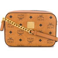 Mcm Monogram Crossbody Bag - Marrom