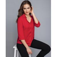 Camisa Manga 3/4 Clássica Vermelho Bulgaria - Lez A Lez