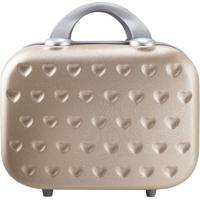 Frasqueira Love Com Relevos- Dourada & Cinza- 26X31,Jacki Design