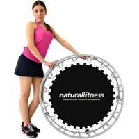 Cama Elástica Mini Jump Profissional + Dvd De Exercícios Natural Fitness - Unissex-Preto