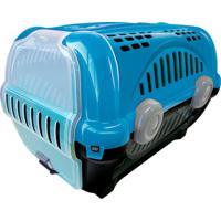 Caixa De Transporte Para Pets Luxo 30,5X34,5Cm Azul