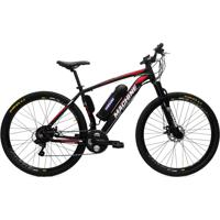 Bicicleta Elétrica Machine Motors Liberty 350W 36V Preto/Vermelho