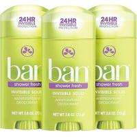 Ban Kit Desodorante Antitranspirante Sólido 73G Trio - Shower Fresh