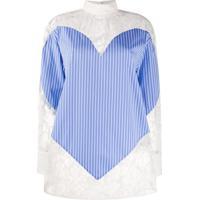 Msgm Blusa Com Renda E Recorte De Coração - Branco