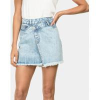 Saia Jeans Assimétrica Jeans - Lez A Lez