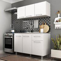 Cozinha Modulada 6 Portas 1 Gaveta Branca Lilies Móveis