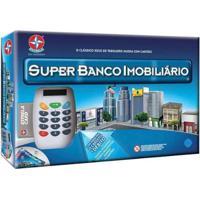 Jogo Super Banco Imobiliário Tabuleiro Estrela - Unissex-Azul