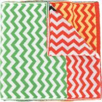 Missoni Echarpe Com Padronagem Chevron Color Block - Verde