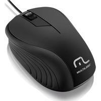 Mouse Óptico Emborrachado Usb 1200Dpi Preto Mo222 Multilaser