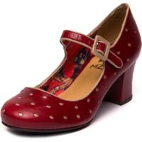 Sapato Mzq Boneca Vermelho Amora / Taupe 7825