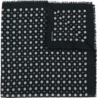 Saint Laurent Lenço De Lã Com Logo - Preto